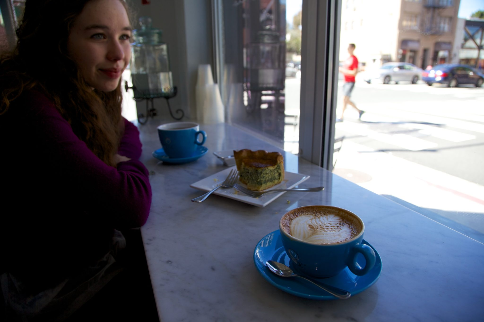 People watching at Espresso Cielo