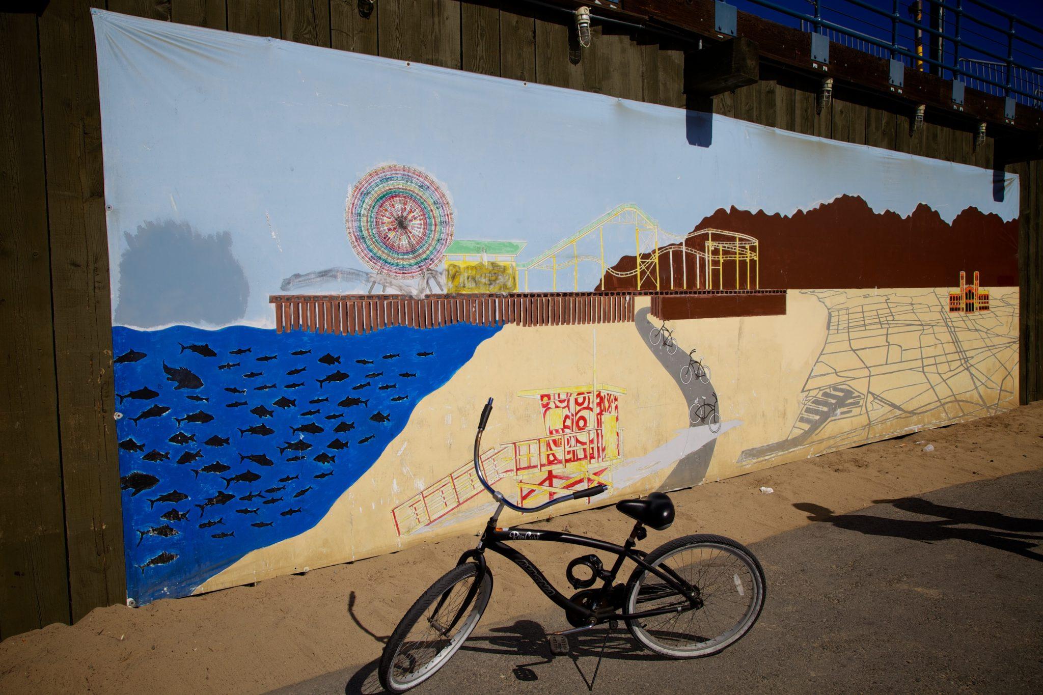 Santa Monica bike path to The Pier