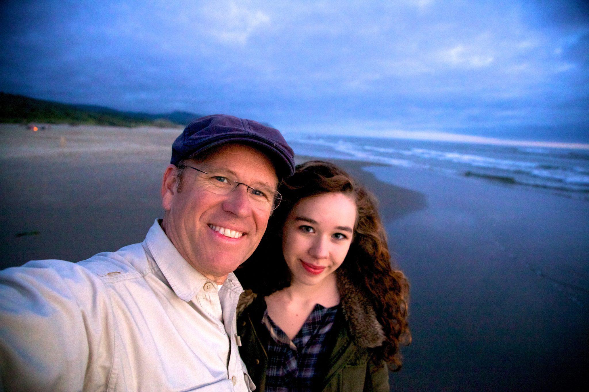 Carissa and I on the Oregon coast