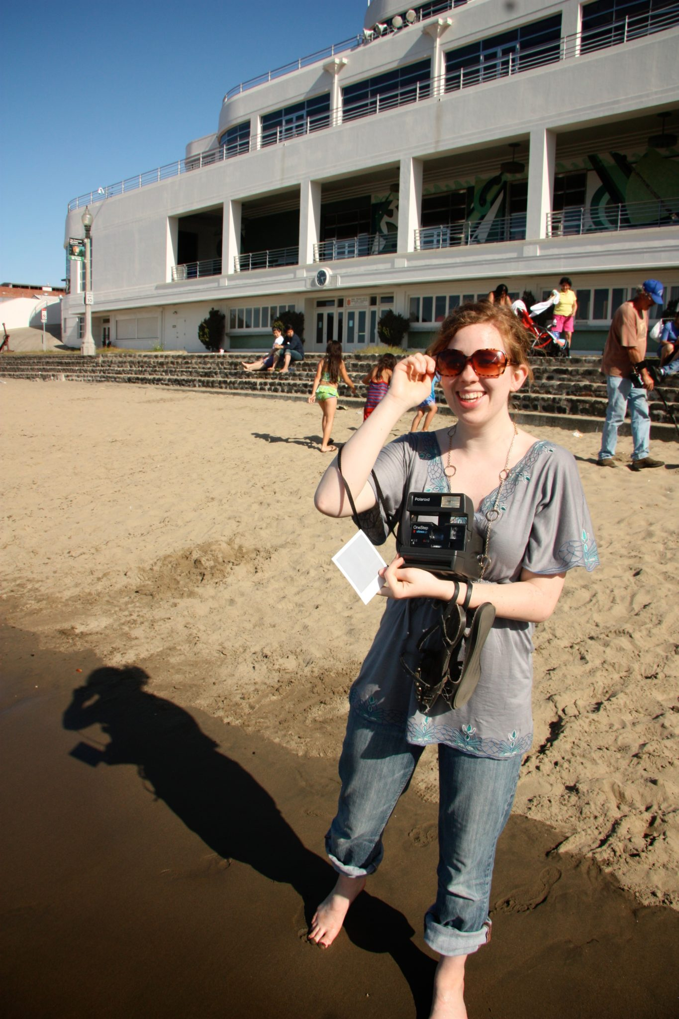 With Christina and her Poloroid Camera by the San Francisco bay