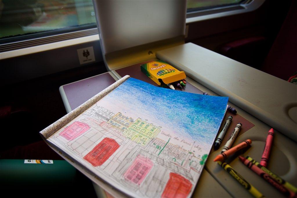 Train ride to Paris from Lausanne, Switzerland